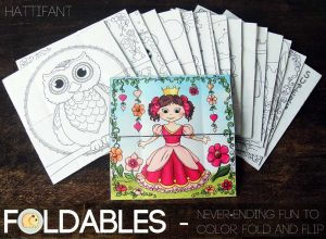 Hattifant's Endless Papercraft Cards to craft, fold and color