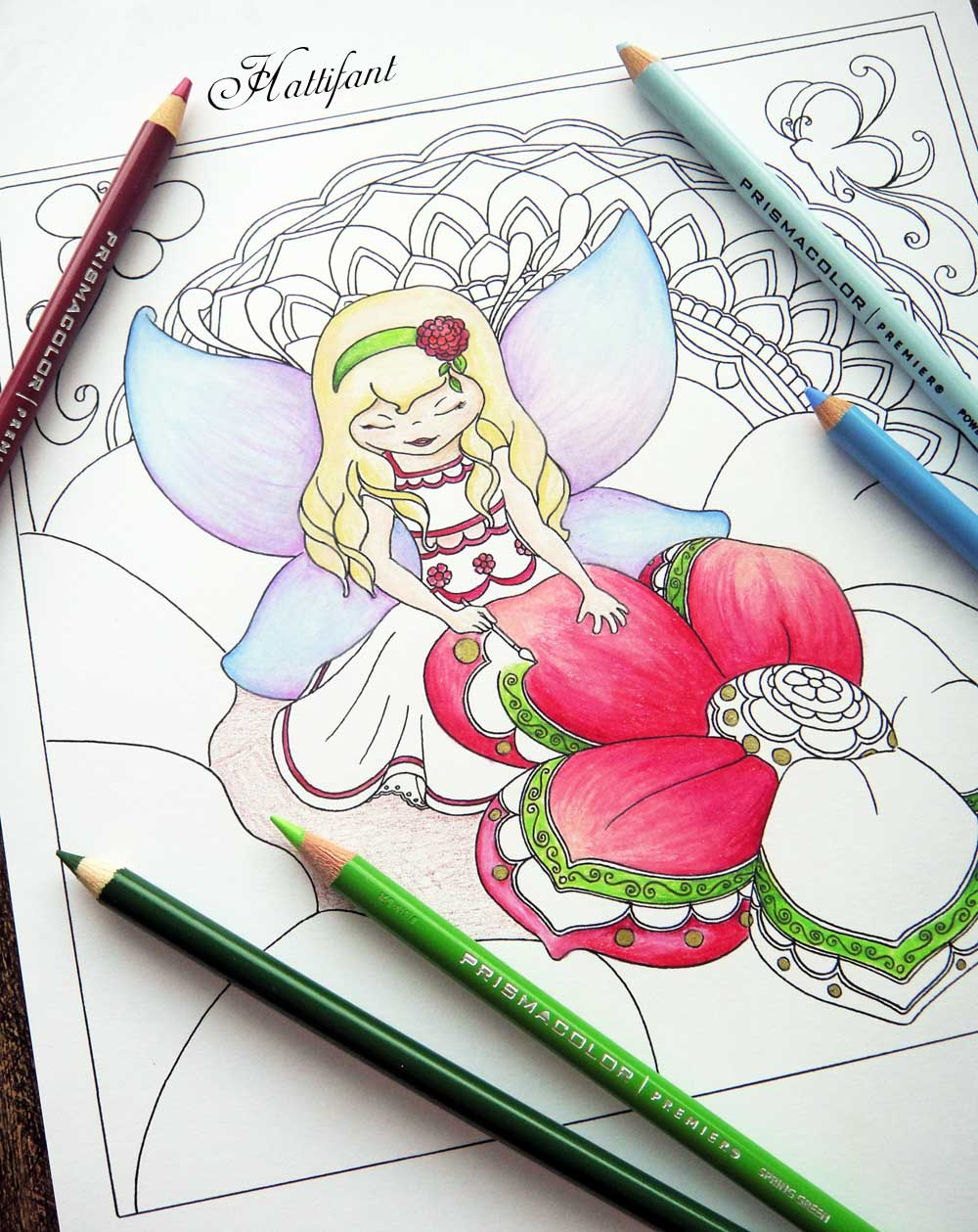 Free coloring pages website - Hattifant S Grown Up Colroing Page Fairy Painting Spring