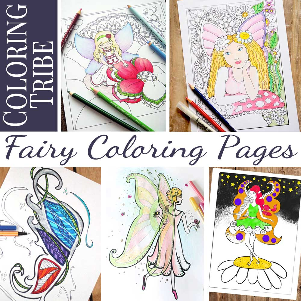 Hattifant's Grown Up Colroing page Fairy painting Spring Coloring Tribe