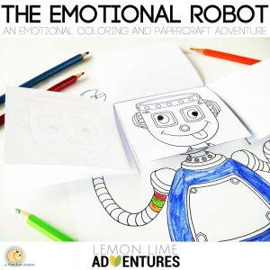 Hattifant's Emotional Robot for LemonLimeAdventures a simple emotions activity for kids