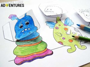 Hattifant's Monstrous Emotions for LemonLimeAdventures a simple emotions activity for kids