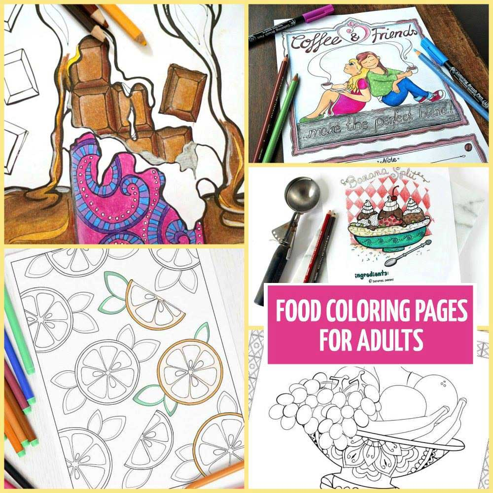 Hattifant Coffee and Friends Adult Coloring Papge with Coloring Tribe August 2016 Roundup Food