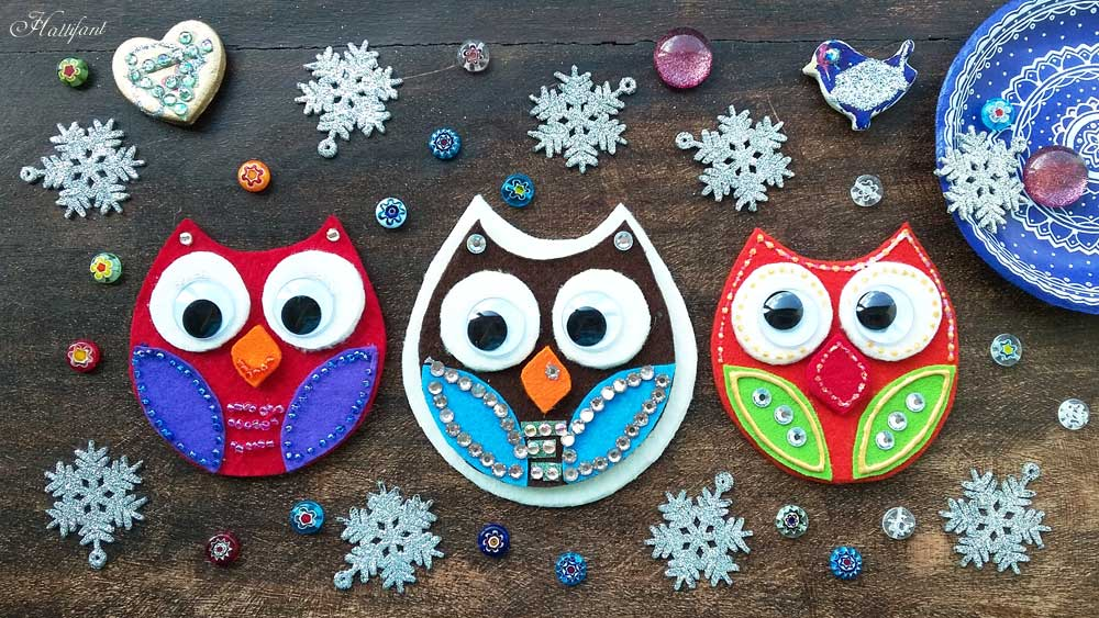Owl Biscuits Made With Felt Hattifant
