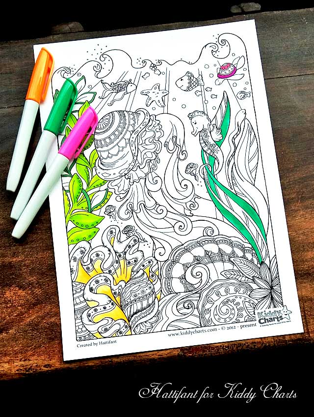 Hattifant Coloring Pages for Kids and Adults Ocean