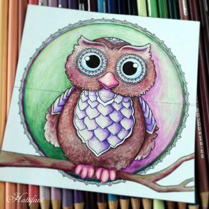 Hattifant's Endless Papercraft Cards to craft, fold and color owl