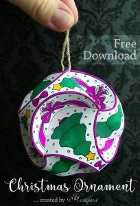 Hattifant Christmas Triskele Paper Globe Set Origami Ball Freebie Free download