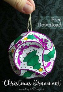 Hattifant Christmas Triskele Paper Globe Set Origami Ball Freebie Free download