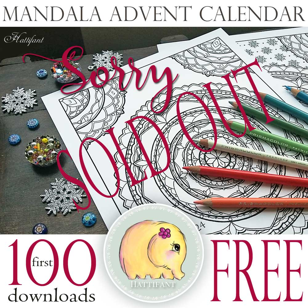 Hattifant's Mandala Advent Calendar to color your way to Christmas in style free download