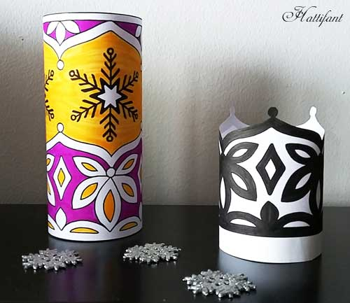 Hattifant's Snowflake Luminary LED Night Light Papercraft