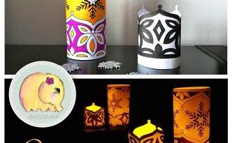 Hattifant's Snowflake Luminary LED Night Light Papercraft