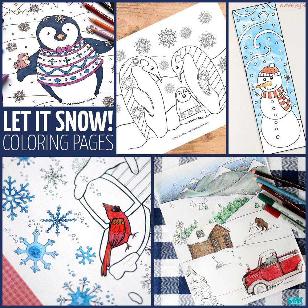 Hattifant's Winter Coloring Pages Colroing Tribe