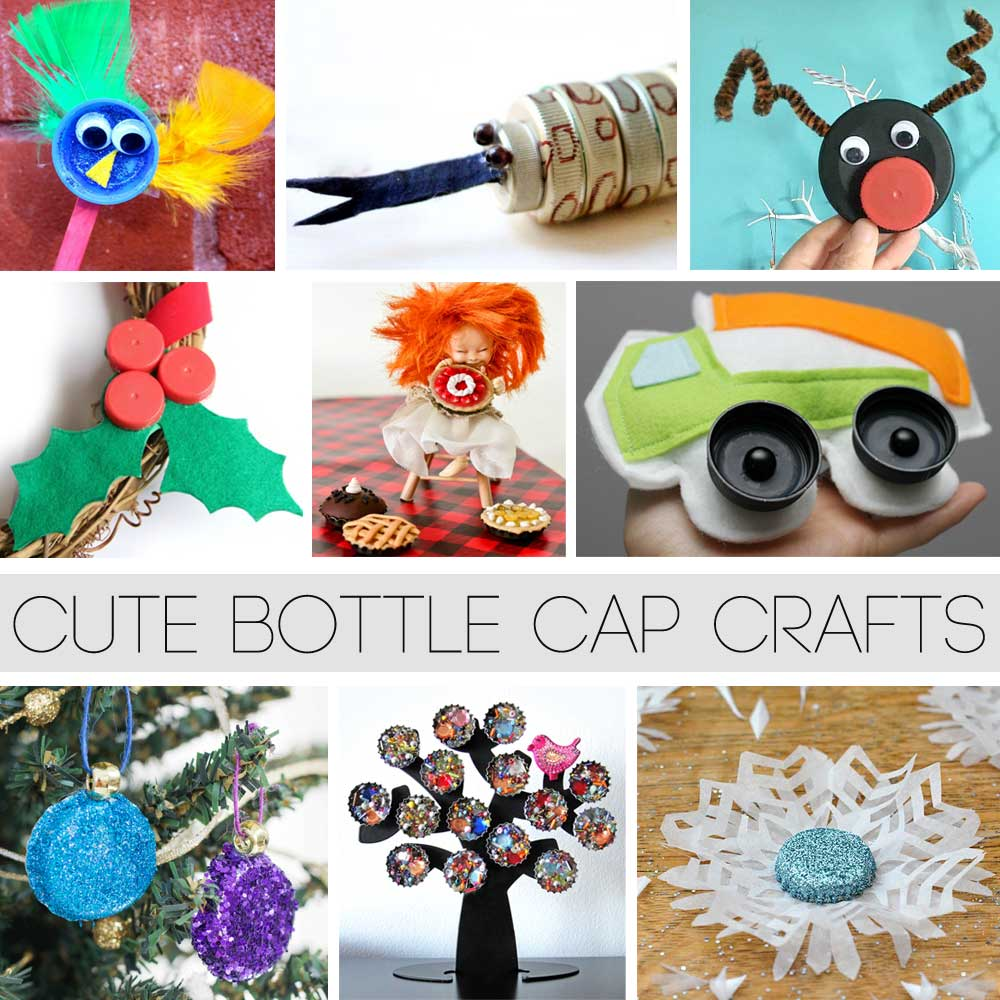 Re cycle and up cycle cute bottle cap craft ideas hattifant for Crafts to do with bottle caps