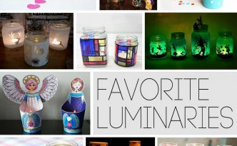 Hattifant's favorite Crafts - Creative with luminaries