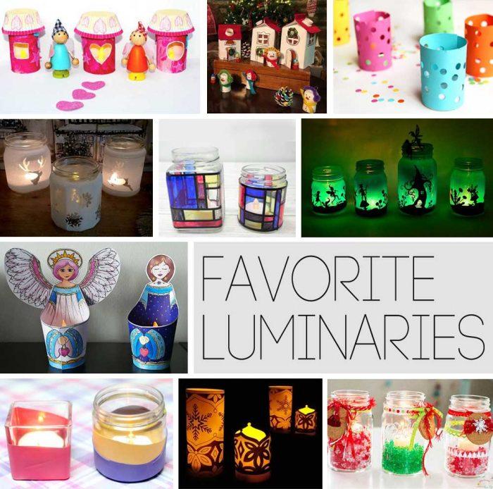 Hattifant's favorite Crafts - Creative with luminaries