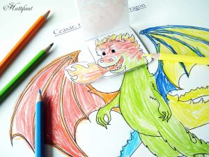 Hattifant's Emotional Dragon Emotions Kids Activity to color and craft in collab with LemonLime Adventures