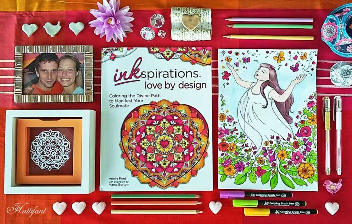 Hattifant's newest Coloring Book Inkpsiraitons Love by Design illustrated by Manja Burton