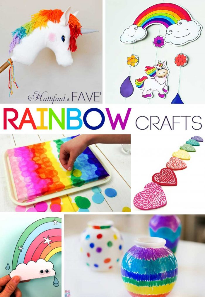 Hattifant's favorite Rainbow Art and Crafts with coloring pages and printables