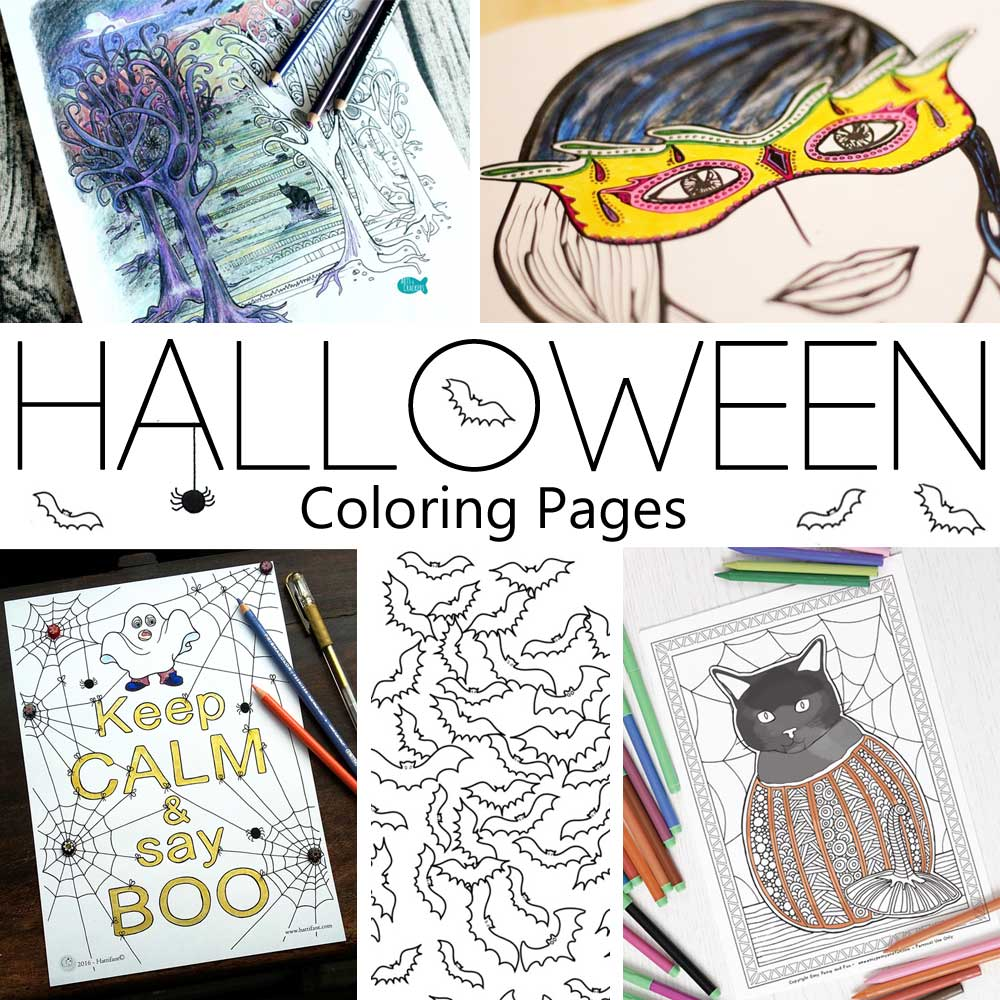 Hattifant's Coloring Tribe Halloween Coloring Pages