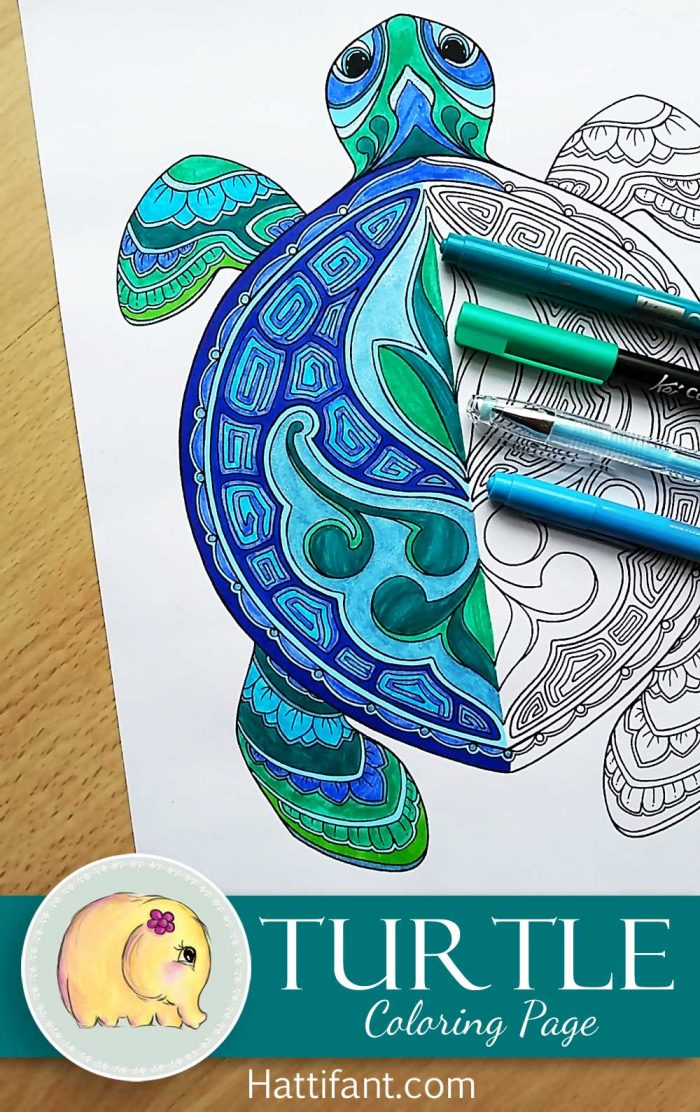Hattifant's Turtle Coloring Page to download