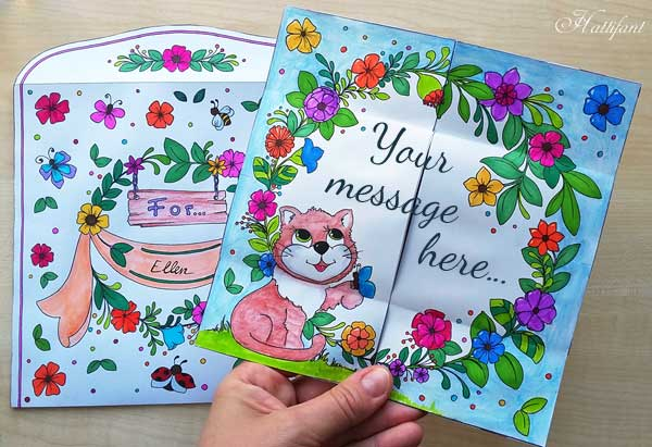 Hattifant's Endless Card Purr-thday Card and Purrfect Gift Card page 4