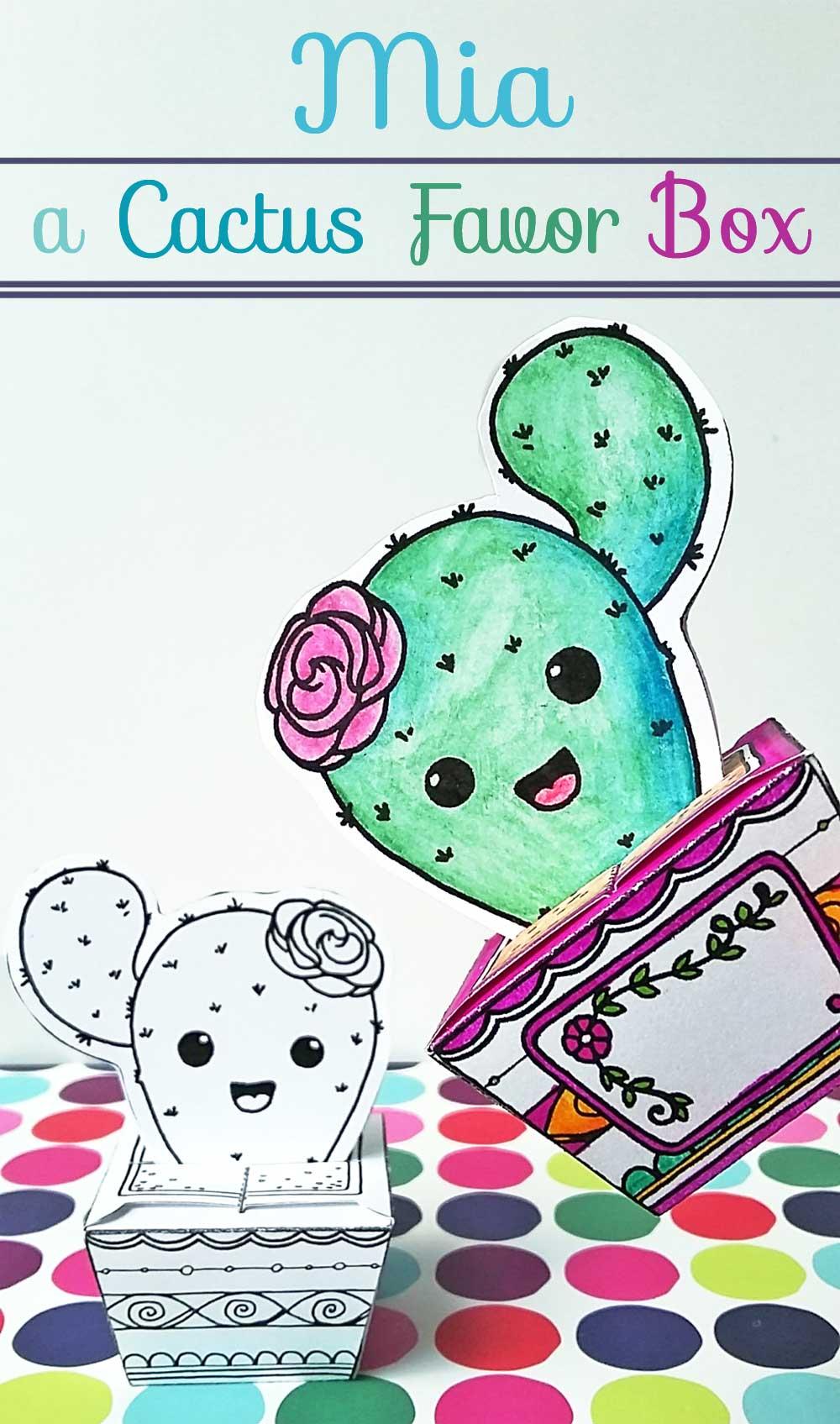 Mia the Cactus Cutie Papercraft Hattifant