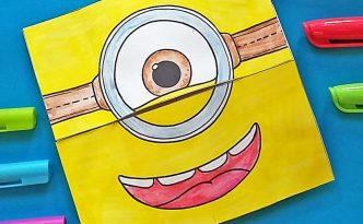 Hattifant's Minion Endless Card to Color and Craft Free Printable