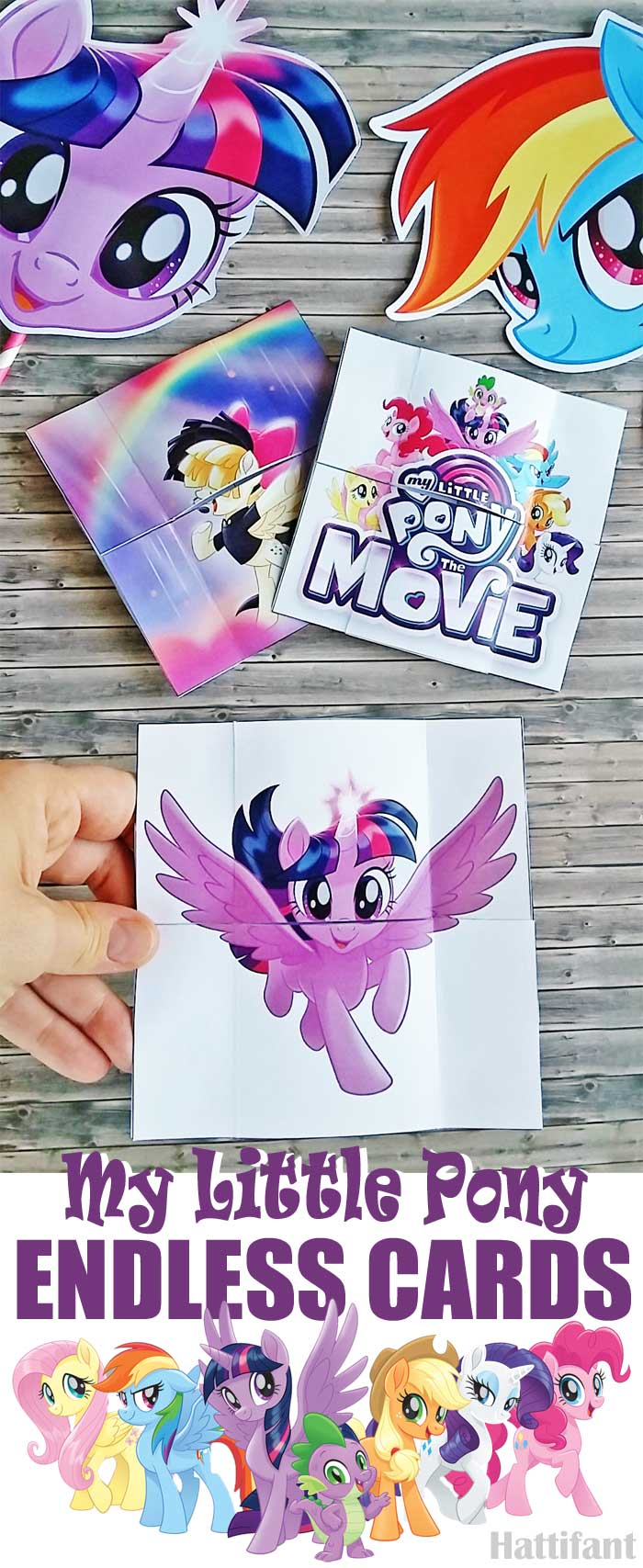 Hattifant's MLP My Little Pony Endless Cards to download free printables