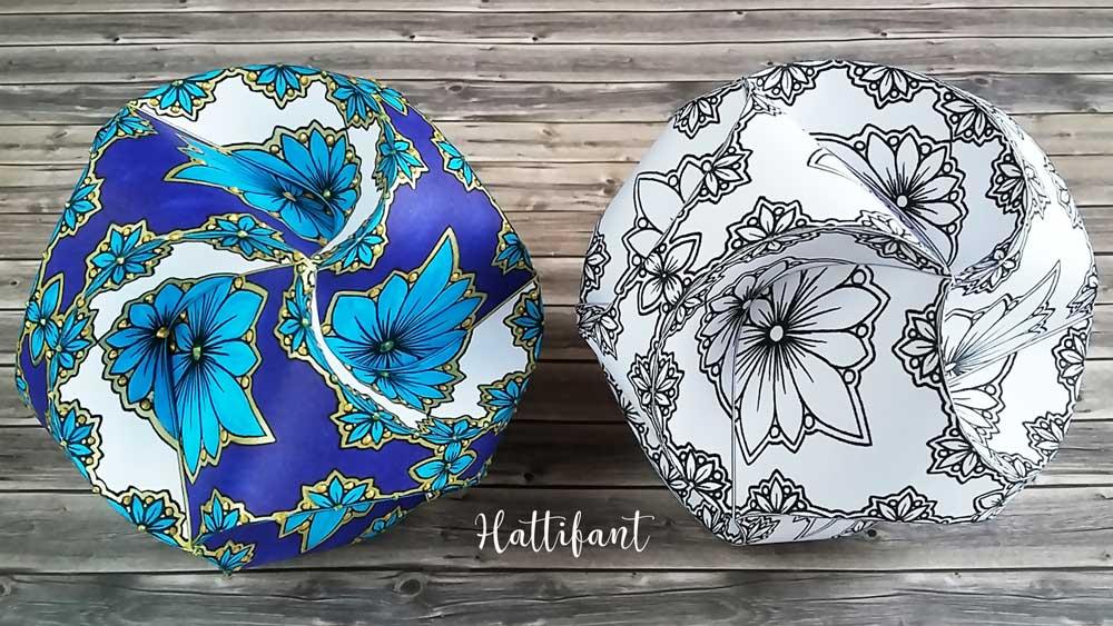 Hattifant's Triskele Paper Globes Flower Edition colored version