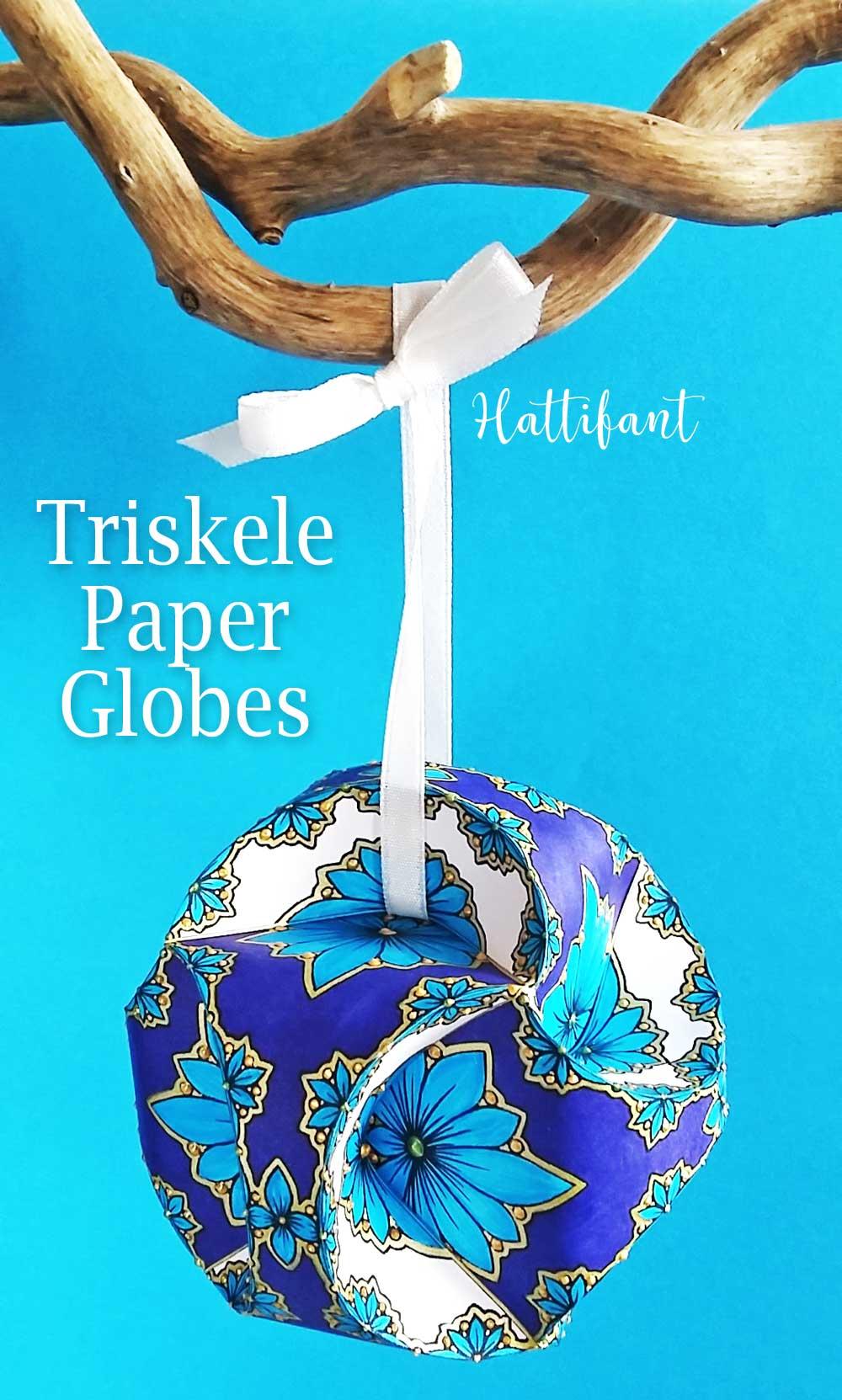 Hattifant's Triskele Paper Globes Flower Edition Colored Sample