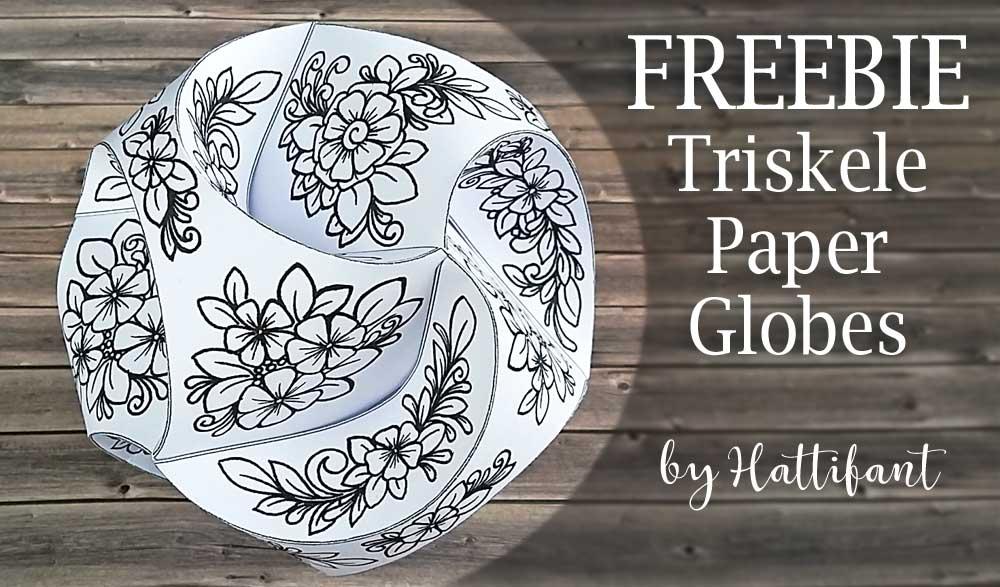 Hattifant's Triskele Paper Globes Flower Edition freebie