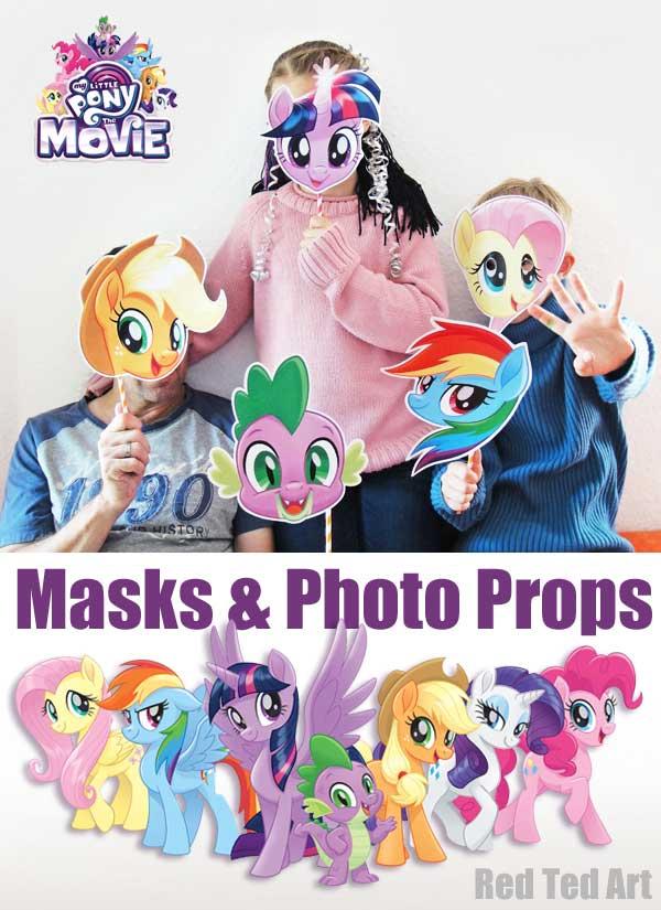 Hattifant's MLP My Little Pony Masks to download free printables