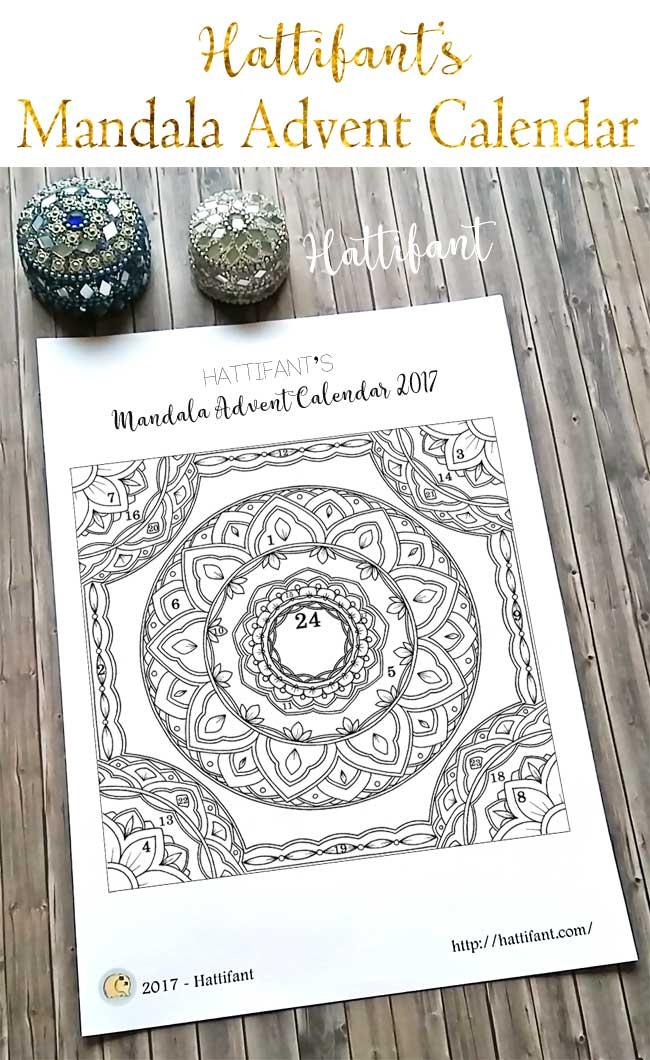 Hattifant's Christmas Mandala Advent Calendar 2017