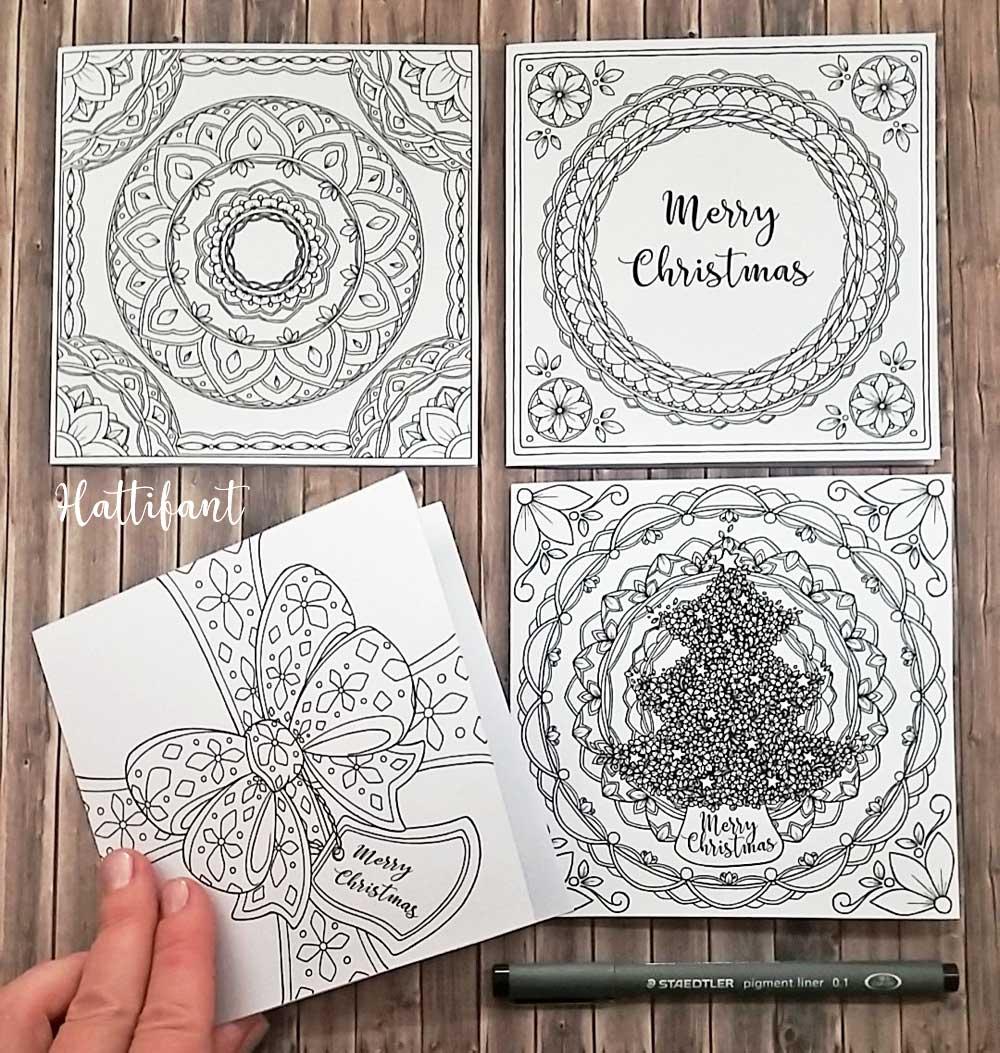 Hattifant's Christmas Advent Calendar Mandala Endless Card Bundle