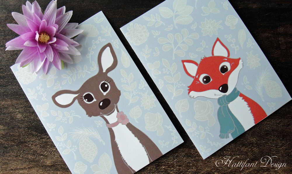 Hattifant Woodland Cuties Folding Cards