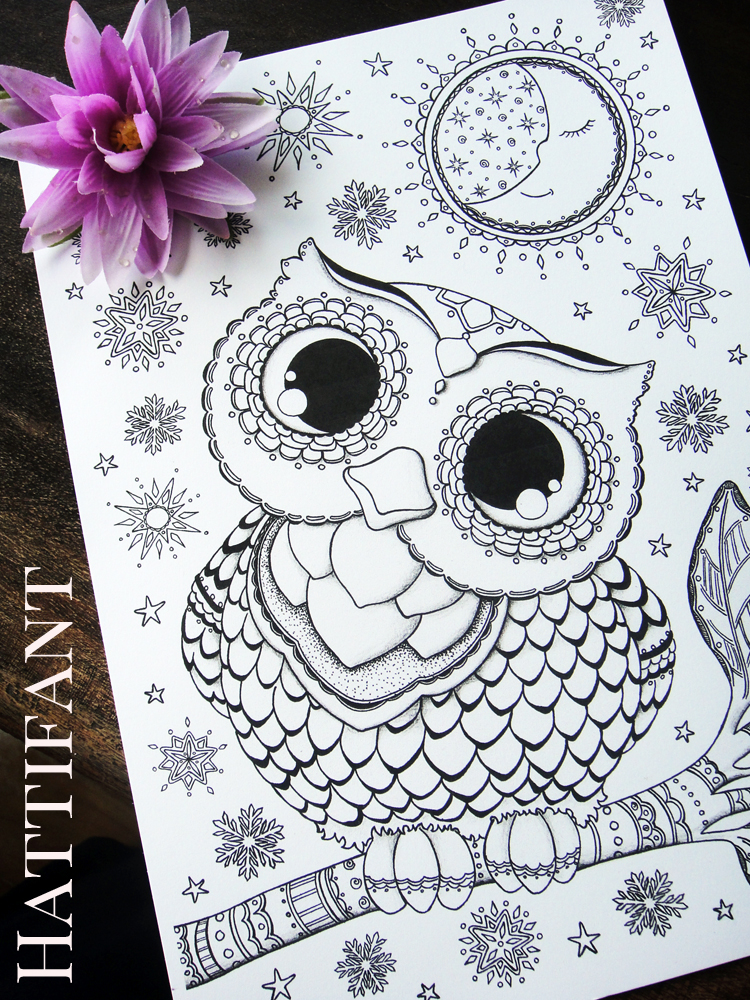 Hattifants Baby Owl Coloring Pages Released