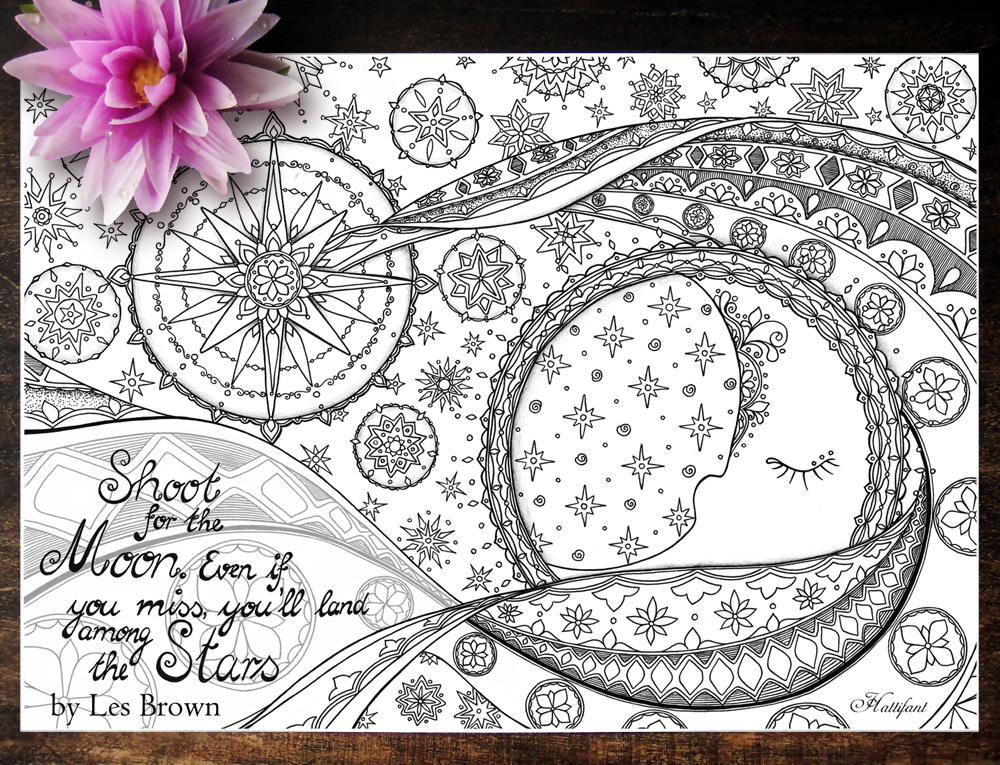 Hattifant's Coloring Page for Heart and Soul - Les Brown