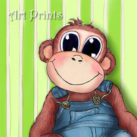 Hattifant's Art Prints - Charlie, the monkey