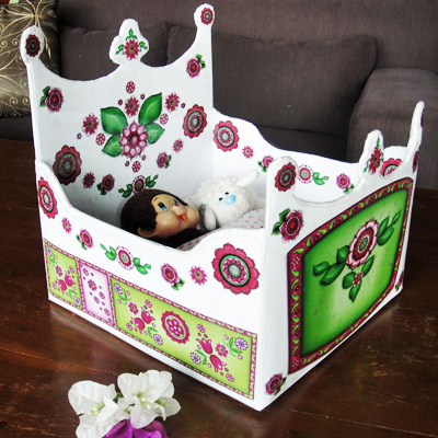 Hattifant's Cardboard Box Doll Bed