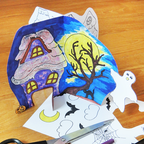 Hattifant's Halloween one Page Paper House