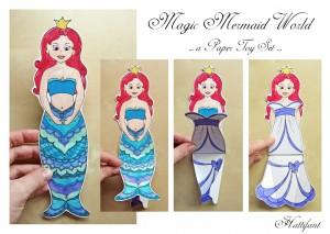 Hattifant's Magic Mermaid World Paper Toy Set