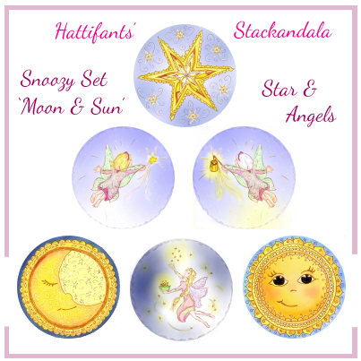 Sun, Moon, Star & Angel Set