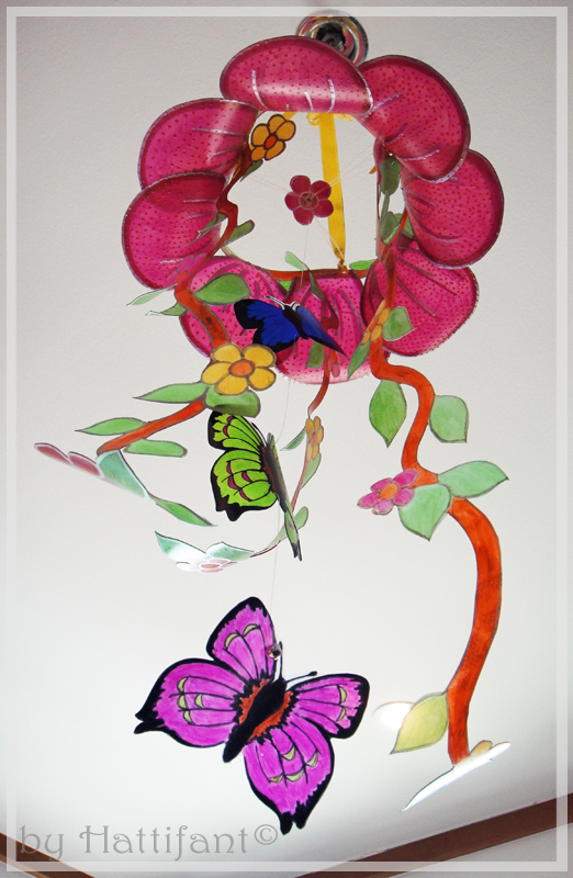 Flower & Butterfly Mobile 3