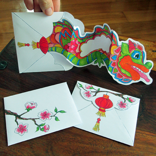 Hattifant's Chinese New Year Dancing Dragon Card