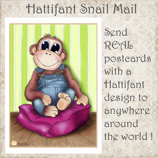 Hattifant's Snail Mail Postcards