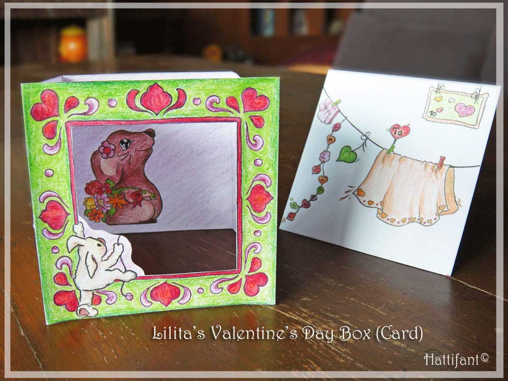 Hattifant's Valentine Mouse Popup Box Card How To 7