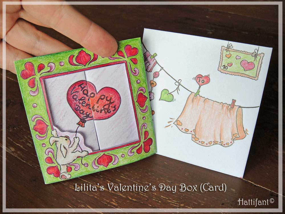 Hattifant's Valentine Mouse Popup Box Card How To 9