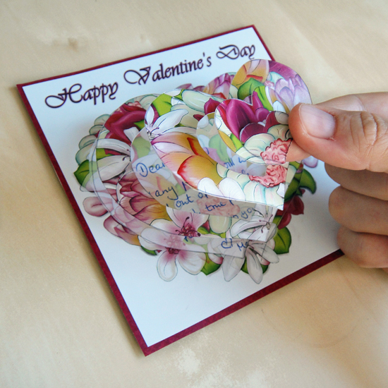 Hattifant's Swirling Flowers Pop Up Card