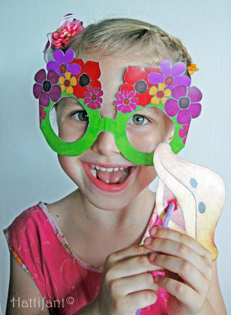 Hattifant Funky Glasses Flowerpower