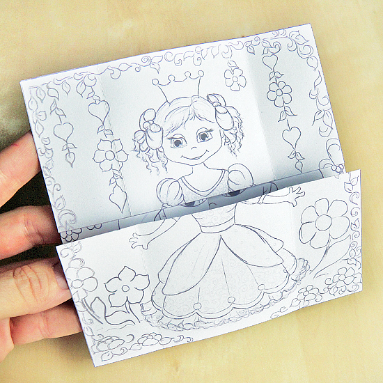 Hattifant's Endless Princesses Card to Colour In