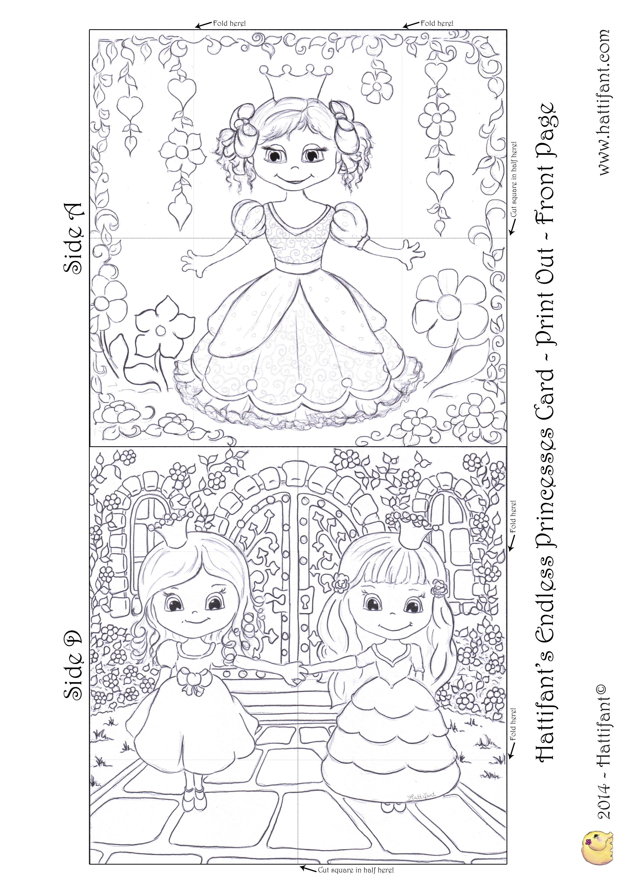 Hattifant S Endless Princesses Card Hattifant